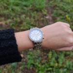 Caroline silver and rose gold watch