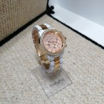 Array white and rose gold watch
