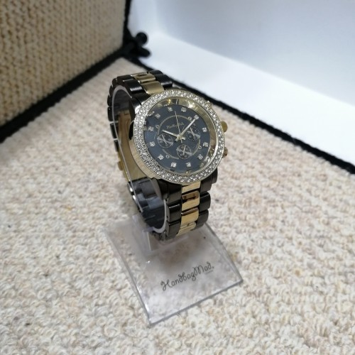 Lucille black and gold watch
