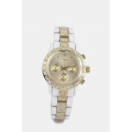 Victoria Watch - White & Gold