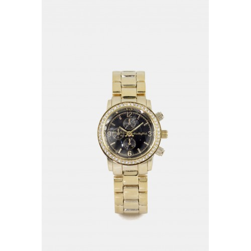 Michigan Watch - Gold with black face